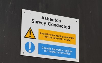 Asbestso Survey Conducted Signage